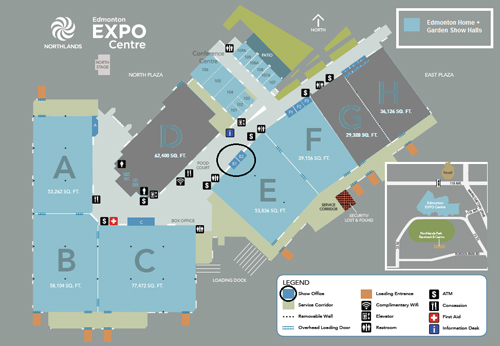 Map of the Edmonton Expo Centre